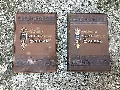 The war in Egypt and the soudan volumes 2 and 4 rare