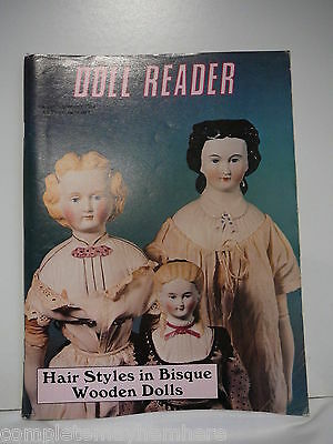 Doll Reader August/September 1984 Hair Styles in Bisque Wooden Dolls