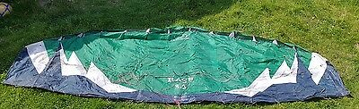 Flexifoil Rage 3.5m power kite perfect working order in hulk green colours