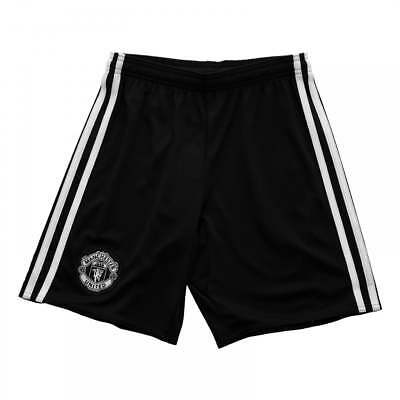 Adidas Juniors Manchester United 2017/2018 Away Shorts (Black)