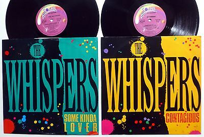 """the WHISPERS Lot of 2x12"""" singles CONTAGIOUS & SOME KINDA LOVER Disco 80s  Fm373"""