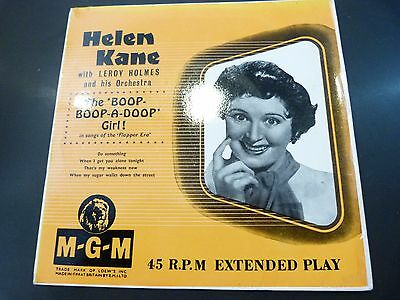 "Helen Kane : The Boop Boop-A-Doop Girl !: Mgm Ep 549:rare Uk 7"" :vg+"