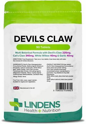 Lindens Devils Claw Formula Tablets 90 Pack Arthritis Joints Health Supplements