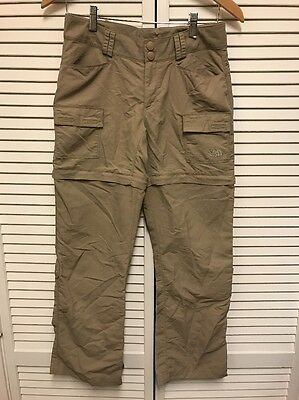 "The North Face Womens Cargo Convertible Pants Shorts Beige Size 4 28"" Inseam"