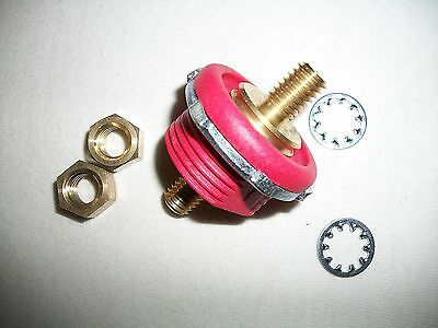Cole Hersee Red  Battery Feed Stud 46211-02 6-36 Volt Bulkhead Insulator