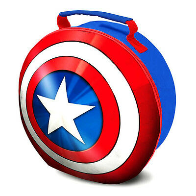 Official Licensed Product Captain America Shield EVA Lunch Bag  School Gift New