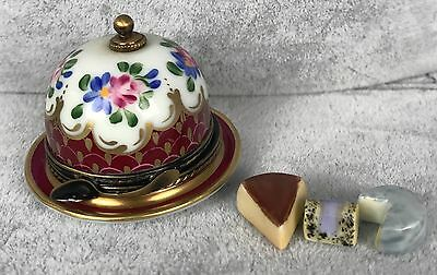 Romance Limoges Trinket Box - Domed Cake Plate with Cakes LE 166/200 SIGNED 406