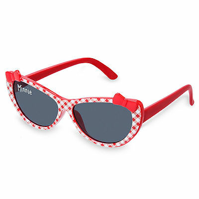 Disney Store Baby Girls Minnie Mouse Sunglasses 100% UV Protection Gingham Style