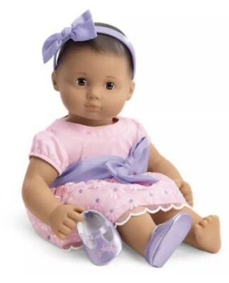 American Girl Bitty Baby Twins BLOSSOM & BOWS Outfit Dress Pink Purple Flower