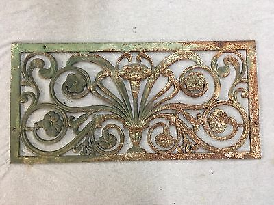 Large Antique Cast Iron Ornate Floral Victorian Window Cover Grill Vtg 347-17E