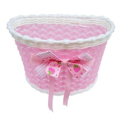 Children Bicycle Basket mit Bow On Belly Pink V9F7