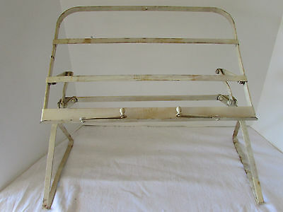 VTG 1930s Ponten Metal Painted White Folding Reading Book Stand Bed or Counter