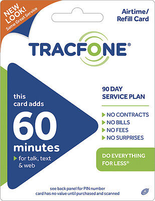 TracFone - 60-Minute Prepaid Wireless Airtime Card - Green