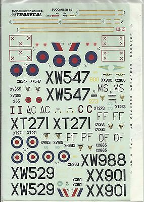 Xtradecal X007-72 Buccaneer S.2B decals in 1:72 Scale