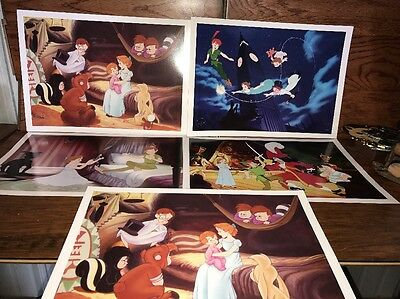 Disney Store Lithograph Peter Pan Retired  5 Pc. Lot