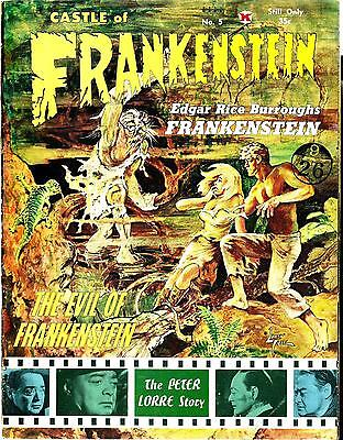 Castle Of Frankenstein #5 Peter Lorre Story Fine Condition