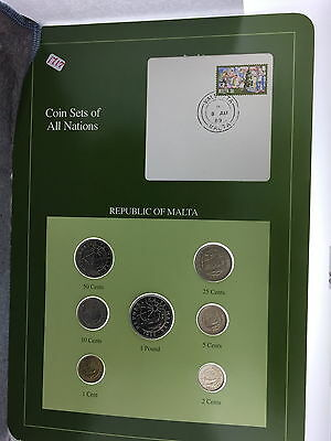 Republic Of Malta Coin Sets Of All Nations