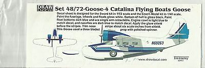 Draw Decals Grumman Goose Catalina Flying Boats decals in 1:72 Scale