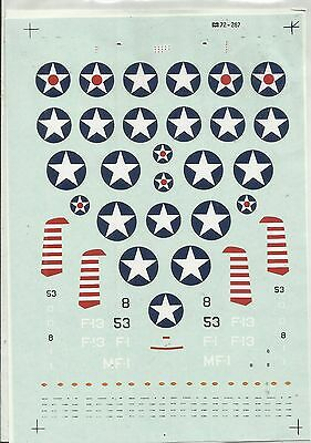 Microscale Superscale 72-287 F4F Wildcat decals in 1:72 Scale