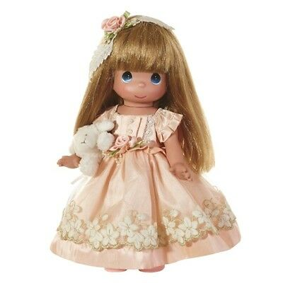 Precious Moments 12 Inch Doll, Comes with plush toy lamb, New with Tag/Box, 6611