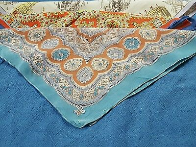 Vintage Ladies Silk Handkerchiefs x 3
