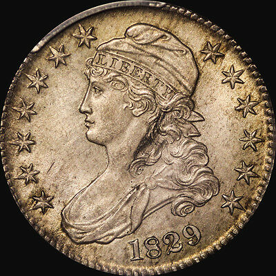 1829 Capped Bust Half Dollar Pcgs Ms 62