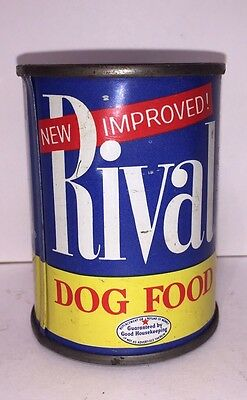 Vintage Rival Dog Food Promotional Coin Bank Antique Advertising