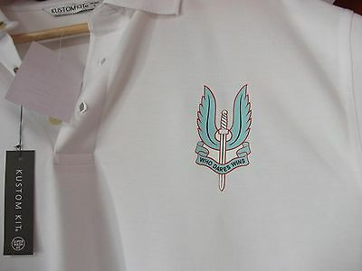 Special Air Service Sas Polo Shirt White Colour Size Large Special Forces Uksf