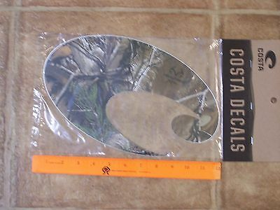 New Genuine Costa Del Mar Decal Sticker Realtree Xtra Camo Extra large over 11""