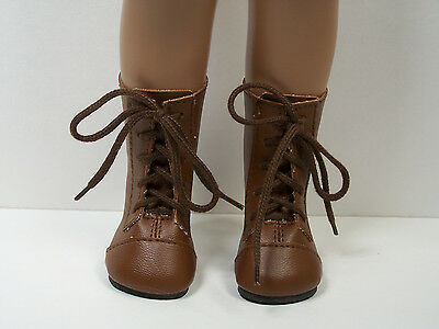 "BROWN Lace Up Boots Doll Shoes Fits 16""- 17"" Sasha (Debs)"