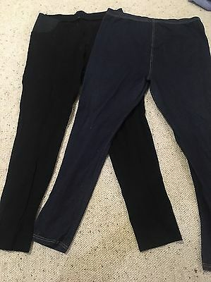 Maternity Jeggings And Black Ponte Leggings - Size M - Great Condition