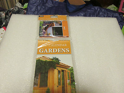 Calendar 2017 And Diary     Gardens    New Sealed
