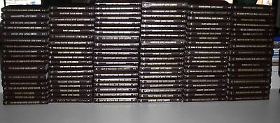 Louis L'Amour Leatherette Book Collection 113 Books Lot White Edges