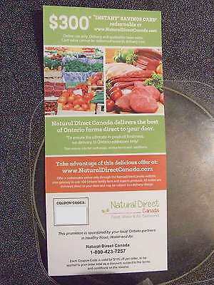Natural Direct Canada $300 Farm-fresh Grocery Savings Card - EMAIL DELIVERY!