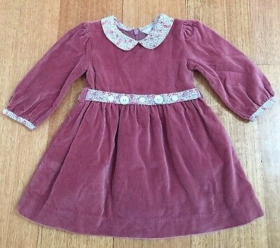 Bebe By Minihaha Baby Girls Winter Formal Party Dress Size 0 (6-12 Months)