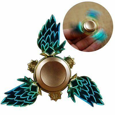Tri Fidget Hand Spinner Triangle Metal Finger Focus Toy ADHD Autism Kids Adult