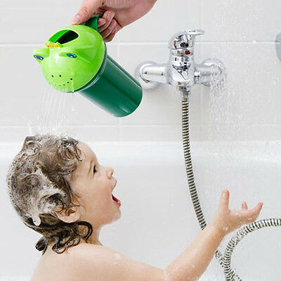 Summer Kids Baby Shampoo Shield Frog Shower Cup Bailer Baby Bathing Care Tub Toy