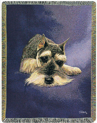 Schnauzer Tapestry Afghan Throw ~ Linda Picken
