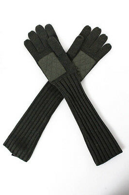 Marc By Marc Jacobs Green Wool Elbow Gloves Size One Size