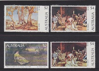 Australia 1974 : Australian Painting Definitives - 3 High Value Stamps, MNH