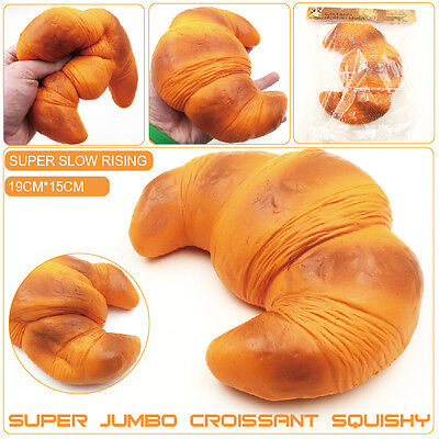 New Colossal 18CM Areedy Croissant Squishy Scented Super Slow Rising Bread Toys
