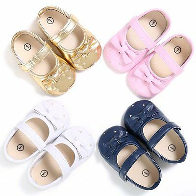 Newborn Baby Girl Summer Shoes Soft Sole Crib Prewalker Toddler Anti-Slip Cute