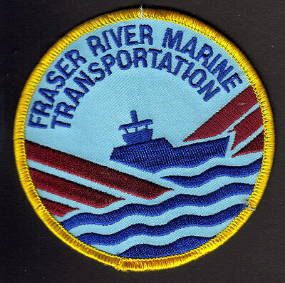 Fraser River Marine Transportation British Columbia Embroidered Patch