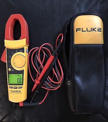 FLUKE 337 TRUE-RMS CLAMP METER With Case