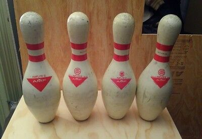 AMF Amflite II bowling pins lot of 4 used