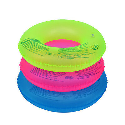 Inflatable Fluorescent Swim Ring Pool Beach Swimming Aid Float Tube Toy 60-90cm