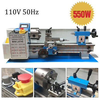 "110V Metal Lathe 550W Variable Speed Lathe Thread Processing 7"" x 14""&3Jaw Chuck"