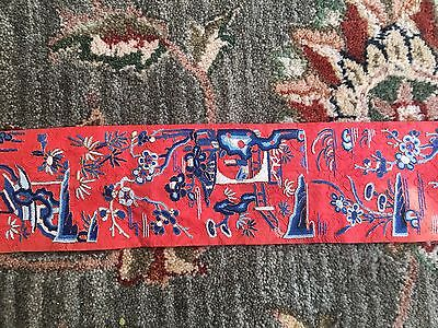 Wonderful Antiques Chinese Textile Panel 37 In X 4 In