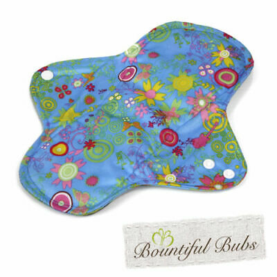 Reusable, Washable Organic Bamboo Cloth Pads. Lge. 4 pack. Bountiful Bubs, st
