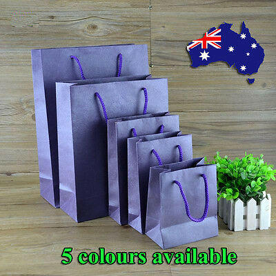 10/30/50pcs Paper Gift Bags Carry Shopping Bag Cardstock Party Wedding Favor